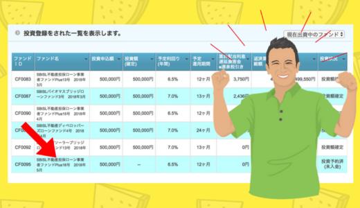 【投資成功】SBISL不動産担保ローン事業者ファンドPlus16号