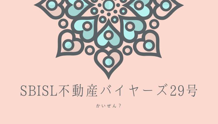 SBISL不動産バイヤーズ29号