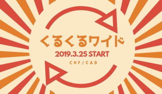 【2019/5/7更新】くるくるワイドで始める異通貨ペア両建て運用「本体:CHF/JPY、トラップ:CAD/JPY」