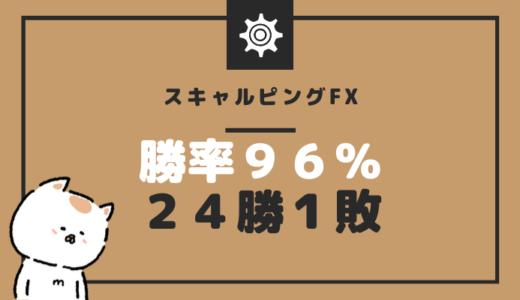 某天才トレーダーには敵いませんがFXスキャルピングで先週の勝率が96%(笑)でした
