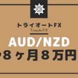 【トライオートFX】AUD/NZD最弱通過ペアの自動売買8ヶ月経過で8万円弱稼いでくれた